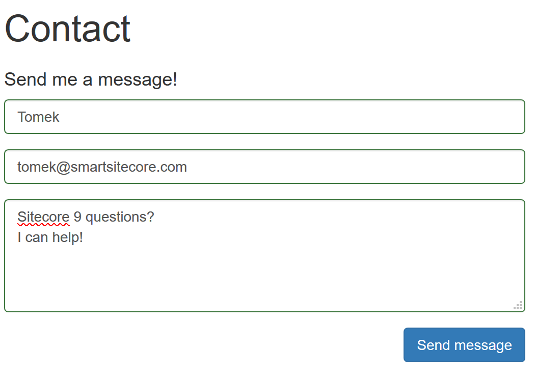 Responsive Sitecore 9 Form With Bootstrap Smart Sitecore Blog